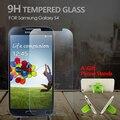 Premium 2.5d protector de pantalla a prueba de explosiones de cristal templado de cine para samsung galaxy s4 i9500 original película de vidrio + gradas