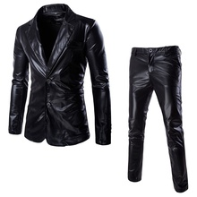 Bright Surface Suits Custom Made Men&#39s Slim 2 Piece (Jacket+Pants)