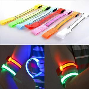Image 4 - LED Reflective Light Arm Armband Strap Safety Belt For Night Running Cycling Hand Strap Wristband Wrist Bracelets #18