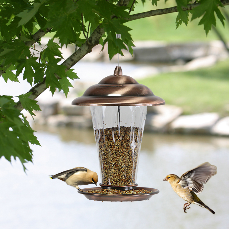Mangeoire pour oiseaux d'extérieur Imitation cuivre décoration de jardin mangeoire pour oiseaux fournitures pour pigeons ZP4011440