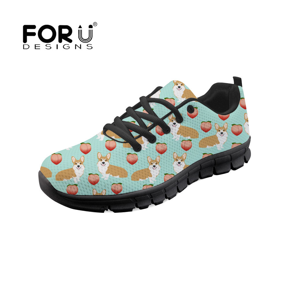 Casual Automne Custom zjz571baq Zapatos Sneakers zjz578baq zjz569baq Appartements Dentelle zjz577baq zjz573baq Baq Up Chaussures Les Corgis 2018 Zapatillas Imprime Forudesigns Mujer Femmes Printemps qxwapF8HZ