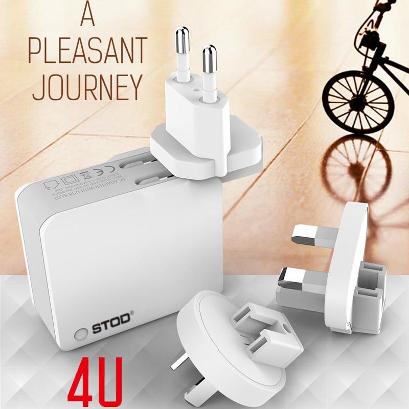 STOD Multi Port Travel Charger 4 USB 22W 4.4A Pengisian Cepat Untuk - Aksesori dan suku cadang ponsel - Foto 6