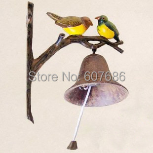 Rustic Iron Hanging Bird Welcome Bell Dinner Bells NEW, 17.2*10.3*20cm, Metal/ iron craft