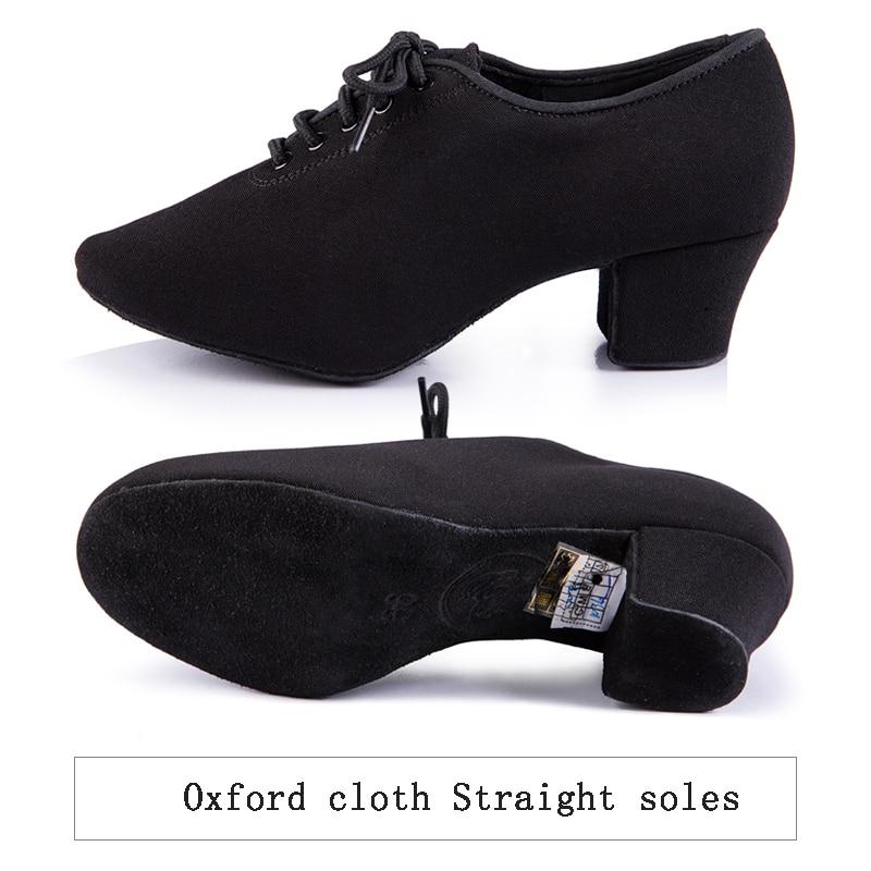 Latin Dance shoes women Genuine BD t1-b import Oxford Lace wholesale Sports Teacher shoes Black  Heel 4.5cm Male female generic