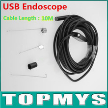 High Precision 2MP Mini USB Inspection Camera with 6 LED 9mm Lens 1600x1200 cable 10M length USB Endoscope IC10H Waterproof IP66