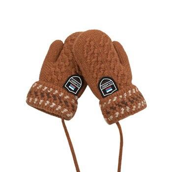 Ζεστά γάντια χειμωνιάτικα πλεκτά από βαμβάκι για μωρά