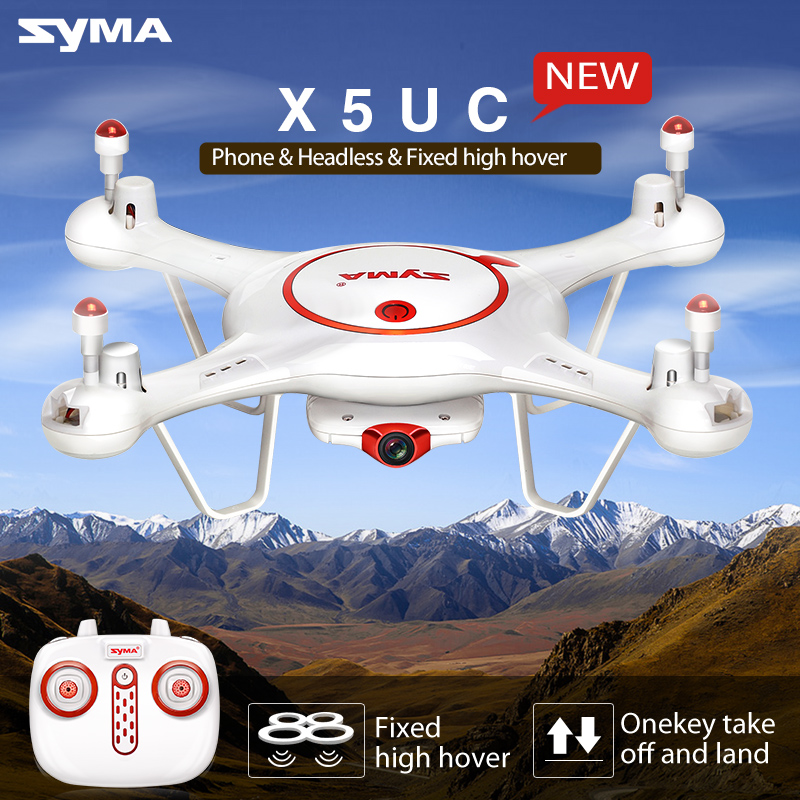 New Syma X5UC 2.4G 4CH 6Axis RC Drone Toy with 2MP HD Camera Fixed High Hover 3D Roll Quadcopter Helicopter Gift Toys yizhan i8h 4axis professiona rc drone wifi fpv hd camera video remote control toys quadcopter helicopter aircraft plane toy