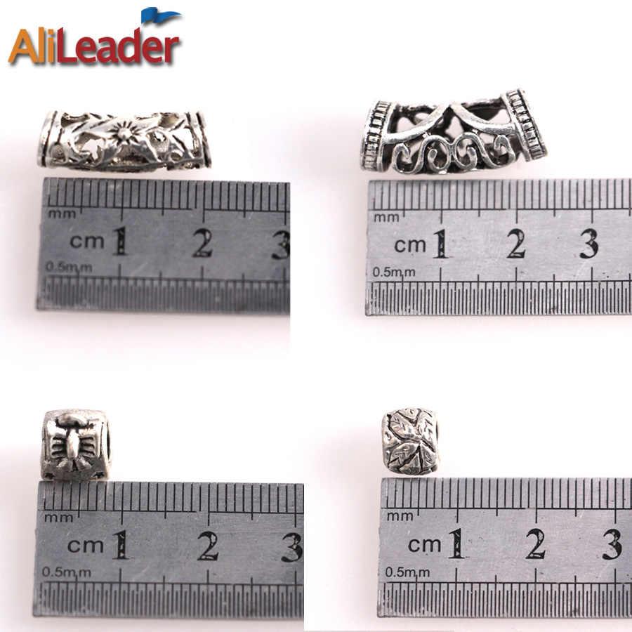 4 размеров Dreadlock Интимные аксессуары Dreadlock Бусины кос манжеты для плетения волос тибетское серебро Dreadlock Кольца Бусины 20 шт./лот