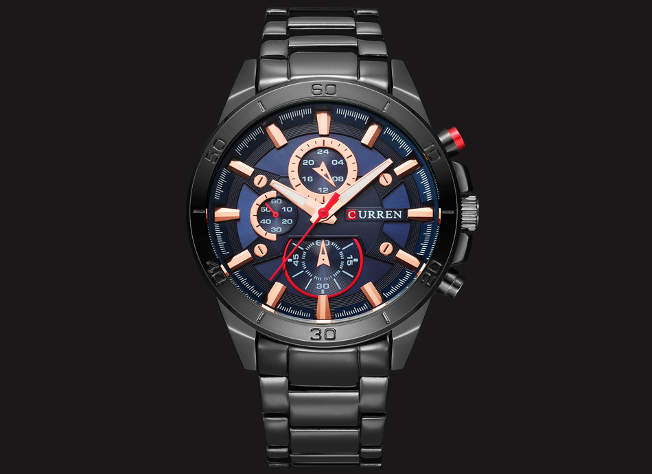 HTB1ZDWOfXmWBuNjSspdq6zugXXaY CURREN Luxury Brand Men Watch Fashion Analog Sports Wristwatches Casual Quartz Full Steel Band Male Clock Relogio Masculino
