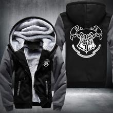 Hot New Harry Potter Hogwarts School Cosplay Coat Hoodie Winter Fleece Unisex Thicken Jacket Sweatshirts fast ship 5-10 days arr