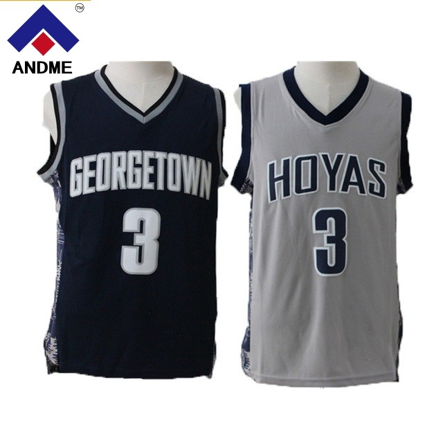 Allen Iverson Collège Jersey 3 Georgetown University Hoyas de Basket-Ball Jersey Commémorative Sport Chemise Tous piqué