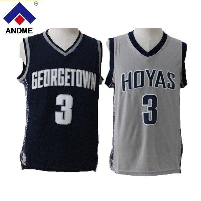 Allen Iverson College Jersey 3 Georgetown University Hoyas Basketball Jersey Commemorative Sport Shirt All stitched