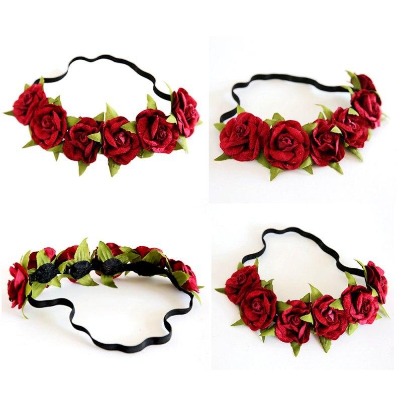 ᗚFlor corona Festival Bandas para la cabeza guirnalda floral ...