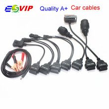 New arrival  Full Set 8 TCS CDP Pro Car Cables OBD/OBDII Diagnostic Connector For Multi-Brand Car Auto Cable individual package