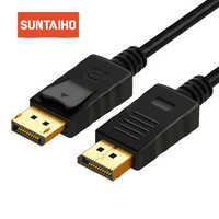 Suntaiho DP to DP HD Cable Displayport Display port to Displayport Cable 1080P 4K for Connecting Laptop to HDTVs Projectors etc