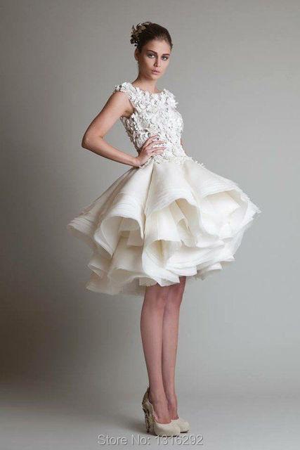 Designer Style Lace Cap Sleeves Vintage 1950s Short Wedding Dresses ...