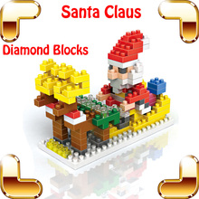Christmas Gift Diamond Blocks Santa Claus Mini Block Toys DIY Father Christmas Collection Learning Educational Home Decoration