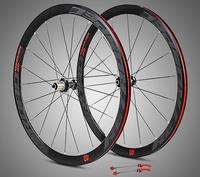 C6.0 super light aluminum four sealed bearings flat spokes racing 40 rims road bike wheel 700C with anti cursor wheels rims
