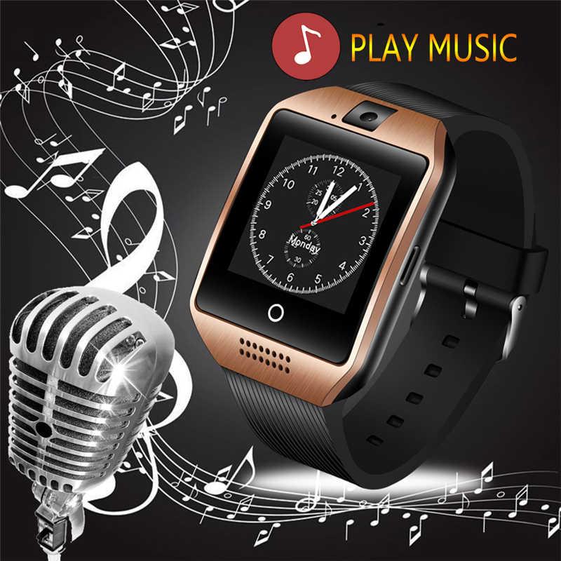 ファッションスポーツ音楽プレーヤーサポート SIM カードの Android 携帯電話スポーツ歩数計定住監視スマートウォッチ