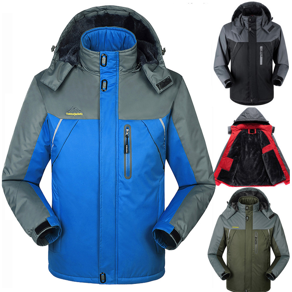 Winter men jacket Camping Hiking coats ski fishing Sports Parkas male Outdoor Windbreaker jackets Waterproof Windproof - jiajia Co., Ltd. store