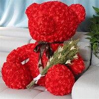 Fancytrader красная роза мишка игрушка хорошее качество большой мишка кукла 70 см 28 дюймов для детей и взрослых подарки