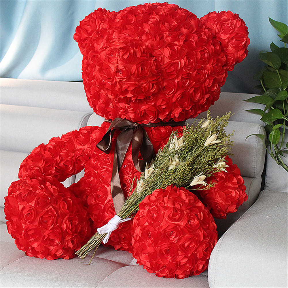 Fancytrader Red Rose Teddy Bear Toy Nice Quality Big Bear Teddy Doll 70cm 28inch for Kids Adults Gifts fancytrader jumbo teddy bear with lolly plush doll big stuffed bears toys 180cm 71inch nice gifts