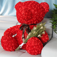 Fancytrader Red Rose Teddy Bear Toy Nice Quality Big Bear Teddy Doll 70cm 28inch for Kids Adults Gifts
