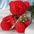Fancytrader Rote Rose Teddybär Spielzeug Schöne Qualität Big Bear Teddy Puppe 70 cm 28 zoll für Kinder Erwachsene Geschenke
