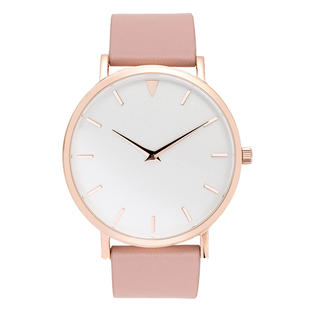 Polisehd Rose Gold Watches, Pink Leather Watch