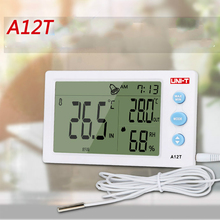 Promo offer UNI-T A12T Digital LCD Thermometer Hygrometer Temperature Humidity Meter Alarm Clock Weather Station Indoor Outdoor