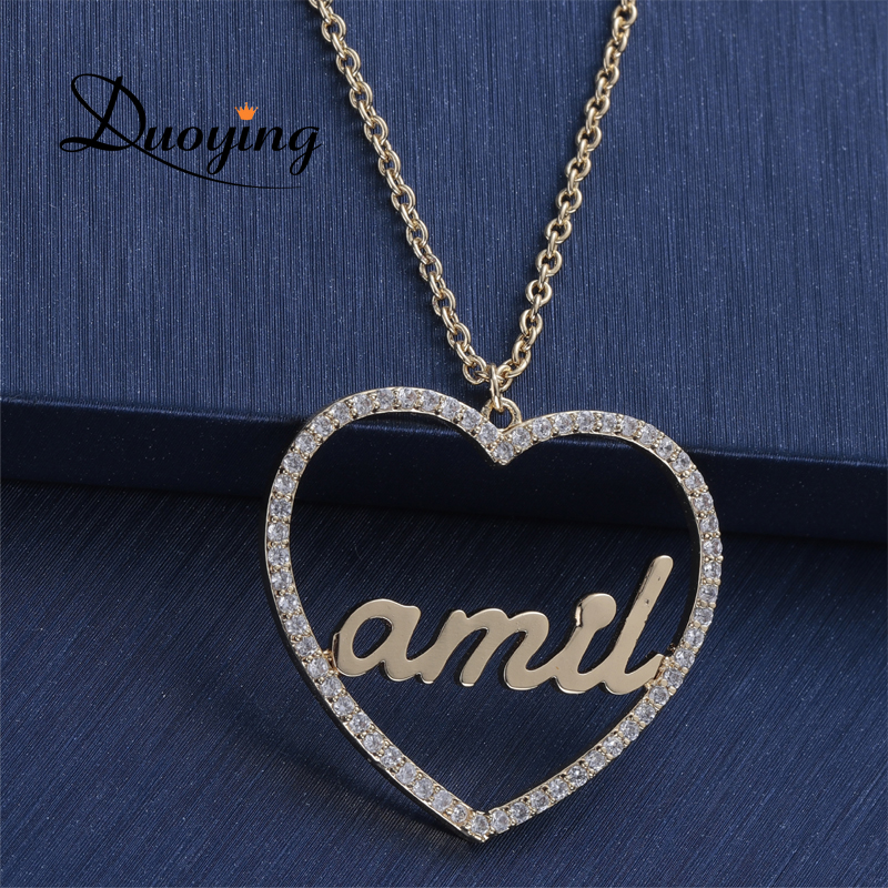 Heart Name Necklace Personalized Gift for Her