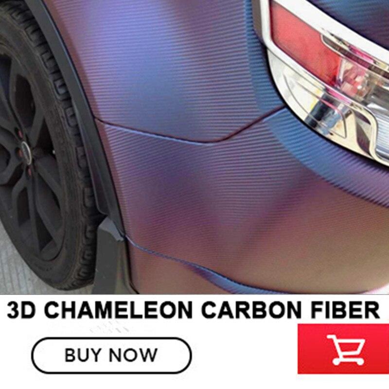 3D Carbon Fiber Vinyl Chameleon Vinyl Wrap Film Blue Purple 3D Chameleon Wrap Film With Air Bubble Free size 1.52x30m/Roll