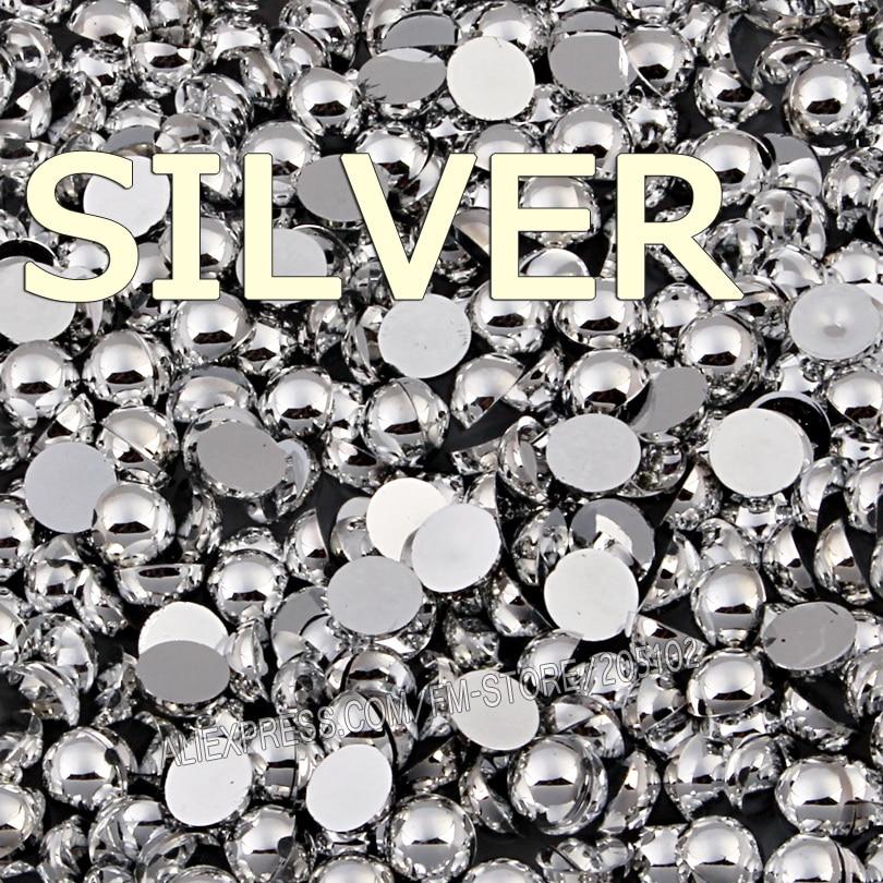 Mix Farben Größen Silber Gold Halbrund FlatBack Perle Perle, 2mm - Kunst, Handwerk und Nähen - Foto 4