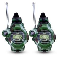 1 Pair Toy Walkie Talkies Watches Walkie Talkie 7 in 1 Children Watch Radio Outdoor Interphone Toy For Chirlden