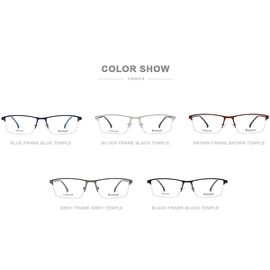 Image 5 - FONEX סגסוגת משקפיים מסגרת גברים חדש זכר כיכר אור מרשם משקפיים חצי קוצר ראיה אופטי מסגרות ללא בורג Eyewear 9843