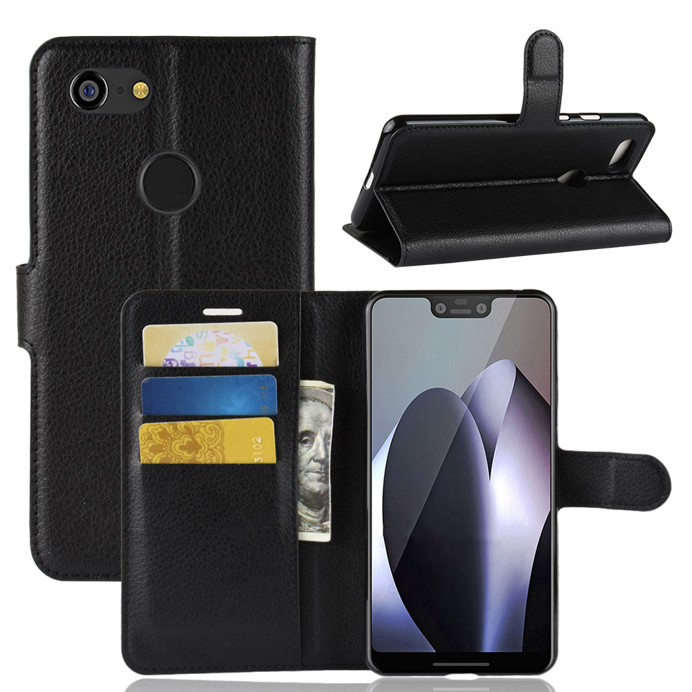 Book Style PU Leather Case Cover For Google Pixel 3 XL Flip Wallet Phone Bags Cases With Stand For Google Pixel 3 XL