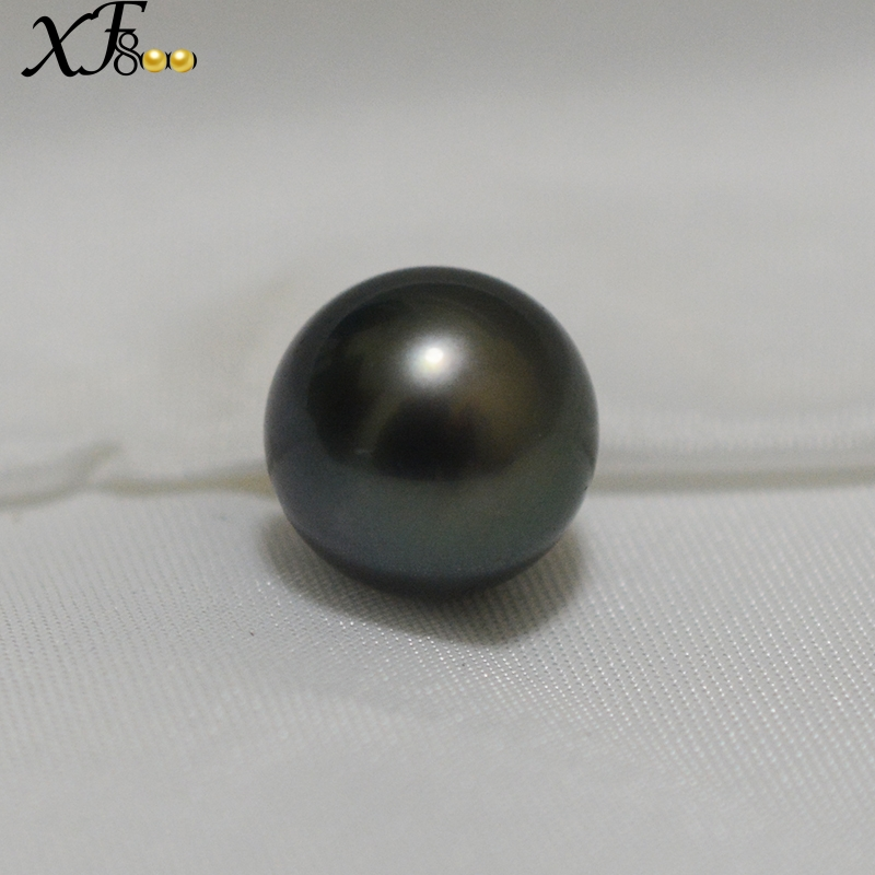 цена на XF800 Pearl Beads Natural Black Tahitian Pearl Jewelry Few Flaws Not Contain Pendant Head Customized LZ-H-WX001