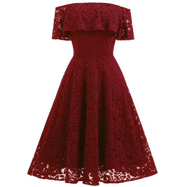 Floral Lace Off Shoulder Boho Mini Dress