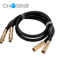 Choseal QS994 XLR Cable Male to Female HIFI Single Crystal Copper Cannon Balanced Audio cable for Mixer Amplifier Speaker