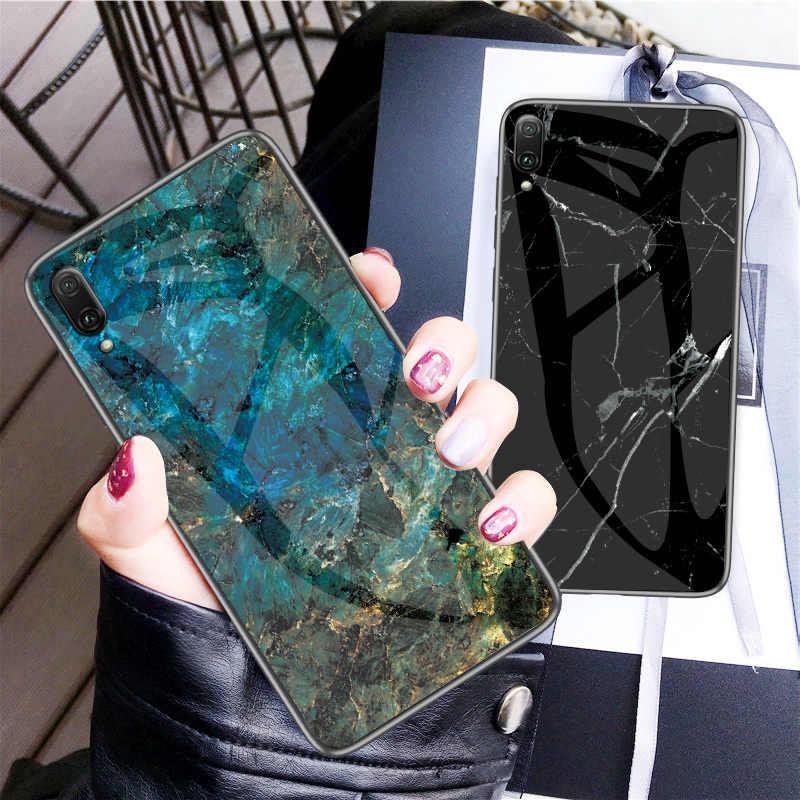 Для huawei Y7 Pro 2019 мраморный мягкий ударопрочный силиконовый чехол из закаленного стекла для Y7 Pro 2019 Fundas на huawei Y7 Pro 2019
