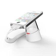 Продается в 10 компл. акрил стекловидный смартфон розничная продажа сигнализации зарядки Стеллаж с дистанционным управлением