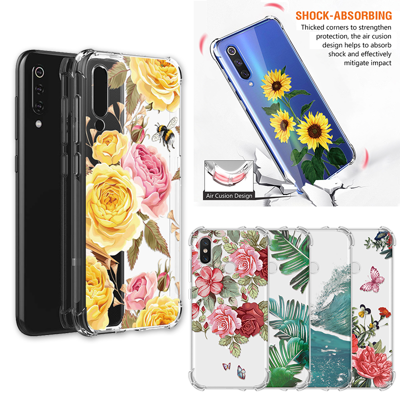 Soft TPU Shockproof Airbag Back Cover For Xiaomi Redmi 5 Plus Note 4X 4 Global 6A Mi 7 6 Pro 8 9 SE A2 Lite Play 6X Case Fundas