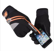 GLV931 Man and woman winter outdoor riding font b glove b font with fleece non slip