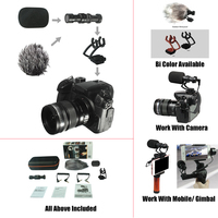 COMICA Full Metal MINI Compact On Camera Cardioid Directional Shotgun Video Microphone With Shock Mount For
