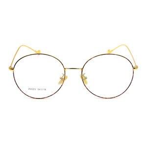 Image 2 - Vintage Style Women/Men Popular Round Metal Clear Lens Glasses Frame Trendy Unisex Anti radiation Spectacles Frame X2023 Glasses