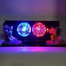 Dragon Ball Z фигурки Сон Гоку против Вегета Супер Saiyan аниме Dragon Ball Z фигурка модель игрушки DBZ Светодиодная лампа освещения