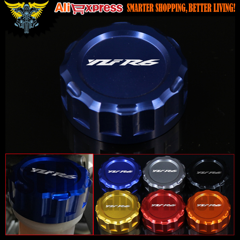 Motorcycle CNC Aluminum Rear Brake Fluid Reservoir Cover Cap For YAMAHA YZF R6 2006-UP 2009 2010 2011 2012 2013 2014 2015 2016