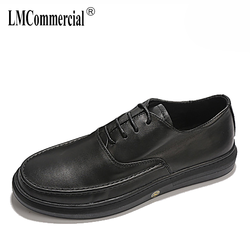 Spring Genuine Leather business men's shoes all-match cowhide fashion shoes leisure breathable sneaker fashion men casual shoes 2017 new spring imported leather men s shoes white eather shoes breathable sneaker fashion men casual shoes