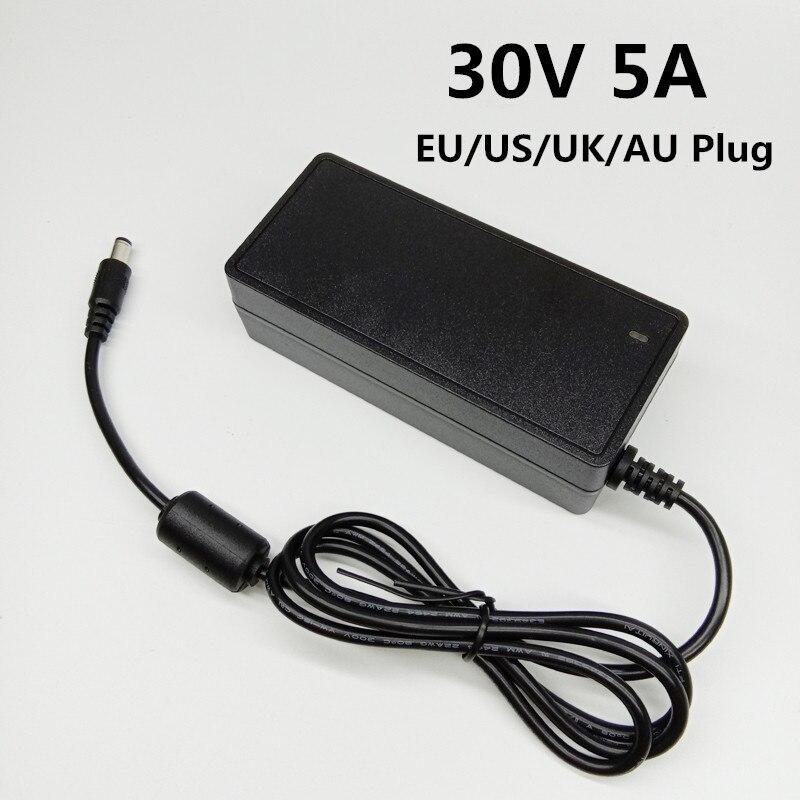 30V 5A Ac Dc Adapter Switching 30V5A Power Supply 30 Volt Universal Power Adapter Converter EU US UK AU Plug 5.5mmx2.1-2.5mm