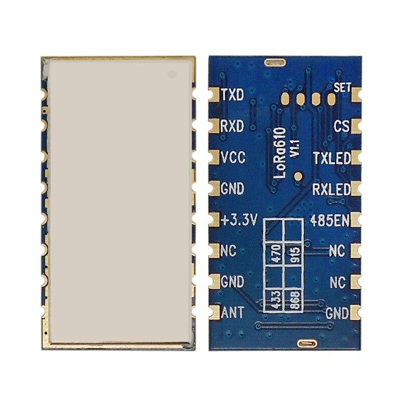 US $29 22 17% OFF|2PCS Lora610 MESH 100mW network 150btyes Lora Long Range  Wireless Transceiver Data rf Module network repeater rf module MESH-in